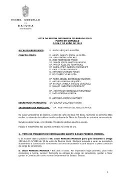 d. jesús vázquez almuí - Ayuntamiento de Baiona