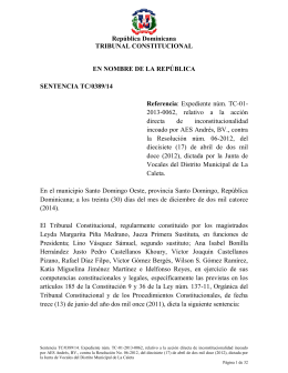 Sentencia TC 0389-14 C - Tribunal Constitucional de la
