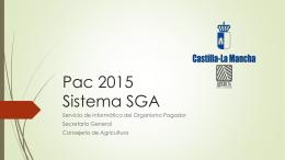 Pac 2015 Sistema SGA