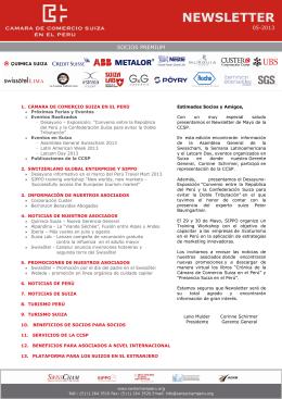 newsletter - Cámara de Comercio Suiza en el Perú