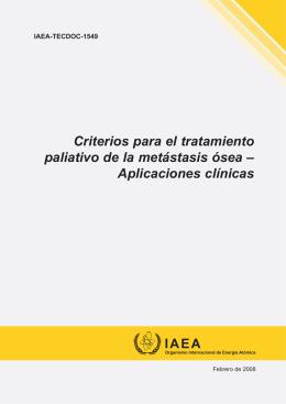 Criterios para el tratamiento paliativo de la metástasis ósea