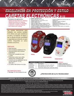 Caretas Electronicas 9-13 Tribal Info. del Producto