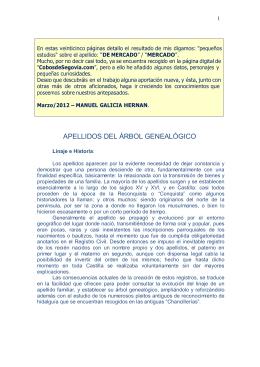 APELLIDOS DEL ÁRBOL GENALÓGICO