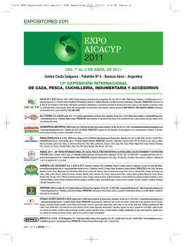 Catálogo de Expositores.