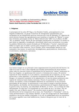 2006 05 18 Pandillas juveniles en Centroamérica y