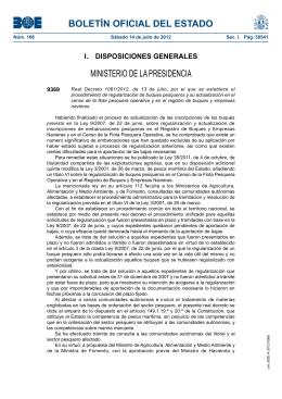 Real Decreto 1081/2012