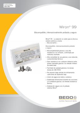 Wiron® 99 - Contacto dental