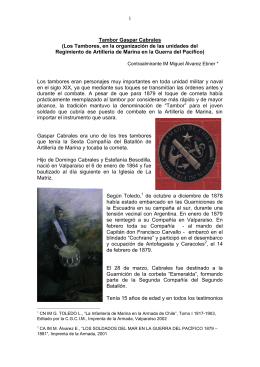 Tambor Gaspar Cabrales - Academia de Historia Naval y Marítima