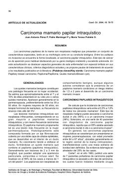 Carcinoma mamario papilar intraquístico