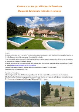 (Berguedà-Cataluña) y estancia en camping