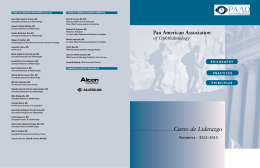 Curso de Liderazgo - Pan-American Association of Ophthalmology