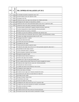 1RA. ENTREGA DE HALLAZGOS LAP 2012