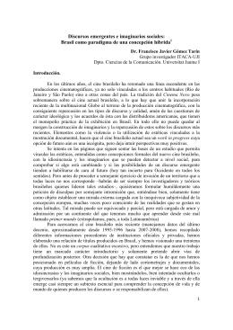 Discursos emergentes e imaginarios sociales: Brasil como