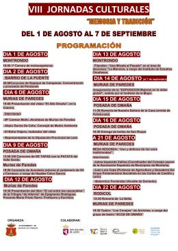 Programación Jornadas Culturales