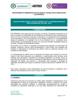 colciencias - Ministerio de Tecnologías de la Información y las