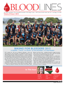 35 | Issue: 3 - Hemophilia Association of San Diego County