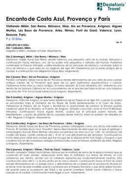 Encantode Costa Azul, Provença y París