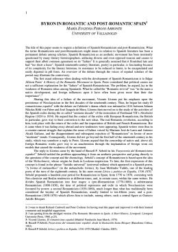 Maria Eugenia Perojo Arronte - International Association of Byron