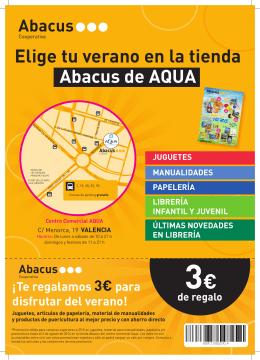 Elige tu verano en la tienda Abacus de AQUA