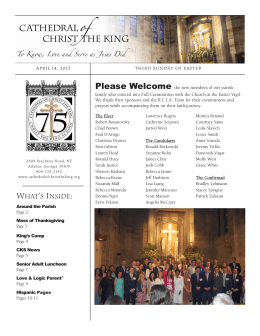 WHAT`S INSIDE: - Cathedral of Christ the King