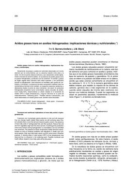 Ácidos grasos trans en aceites hidrogenados