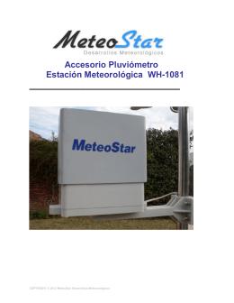 Accesorio Pluviómetro Estación Meteorológica WH-1081