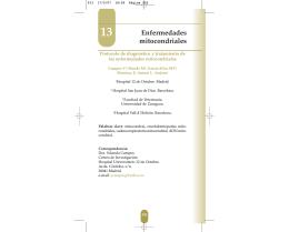 Diagnóstico y tratamiento de las enfermedades mitocondriales