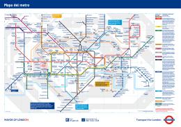 Mapa del metro de Londres en PDF - Mapa