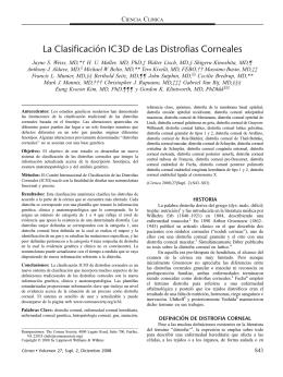 La Clasificacio´n IC3D de Las Distrofias Corneales
