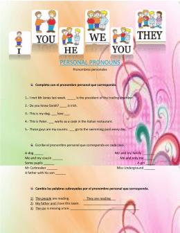 personal pronouns exercises