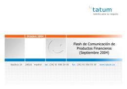 Flash de Comunicación de Productos Financieros