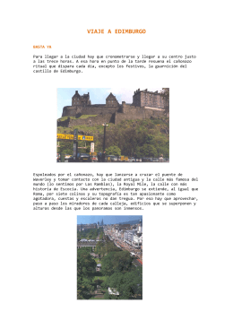 Viaje a Edimburgo