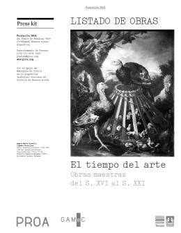 Listado de obras el tiempo del arte