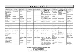 Glosario Internacional de Cortes de Carnes