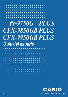 fx-9750G PLUS CFX-9850GB PLUS CFX-9950GB - Support