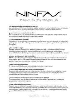 PREGUNTAS MÁS FRECUENTES - Ninfas