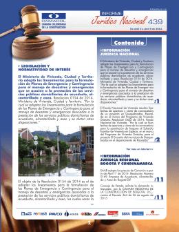 INFORME JURIDICO 439 ABRIL 15 DE 2014-