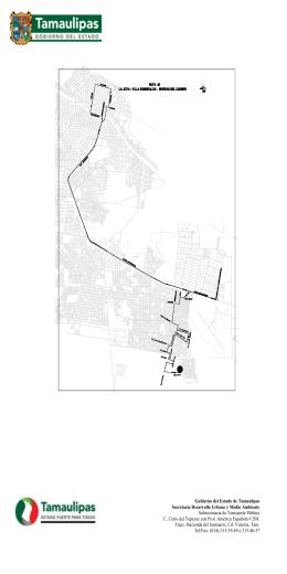Ruta 45. La Joya - Secretaría de Desarrollo Urbano y Medio Ambiente