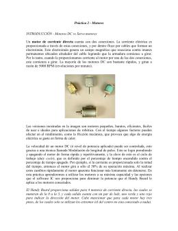 Práctica 2 - Motores INTRODUCCIÓN