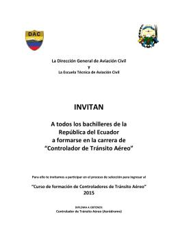 Controlador de Tránsito Aéreo - Dirección General de Aviación Civil