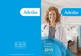 Cuadro medico Adeslas ZARAGOZA