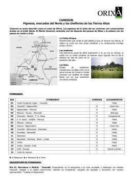 CAMERÚN, Pigmeos, mercados del Norte y las chefferies de las