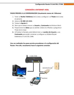 CONEXIÓN A INTERNET ADSL
