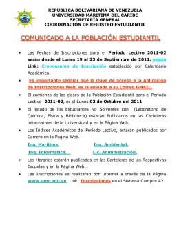 Diapositiva 1 - Universidad Marítima del Caribe