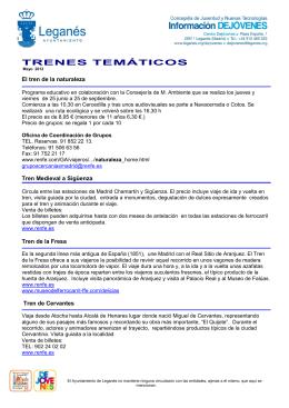 TRENES TEMÁTICOS - Ayuntamiento de Leganés