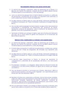 PROCEDIMIENTO PREPAGO TOTAL MUTUO HIPOTECARIO