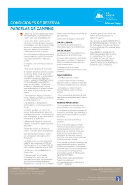 normas y condiciones - La Siesta Salou Camping Resort