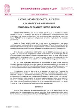 Orden FYM/226/2012 - Junta de Castilla y León