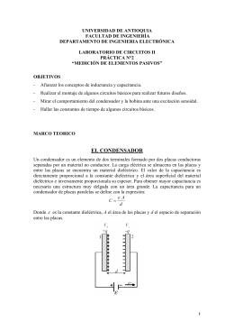EL CONDENSADOR - Facultad de Ingeniería