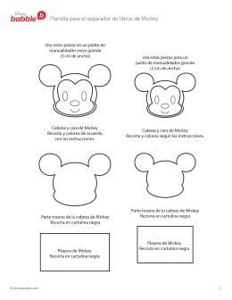 Descarga la plantilla para el separador de Mickey